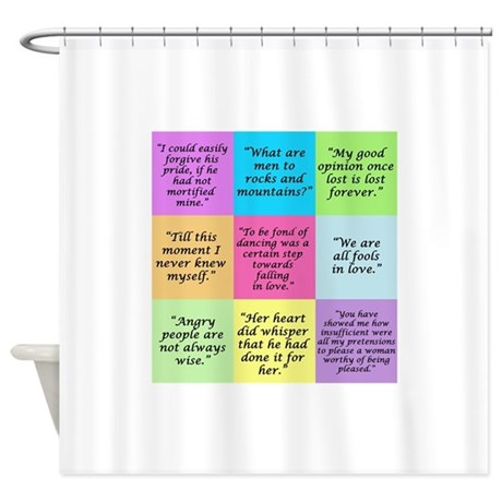 Pride And Prejudice Quotes Shower Curtain By Rainbowfarts