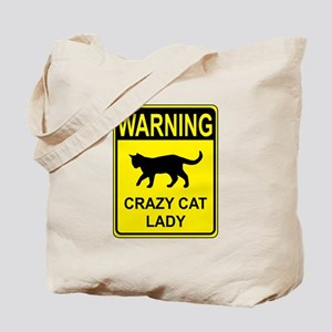 Crazy Cat Tote Bag