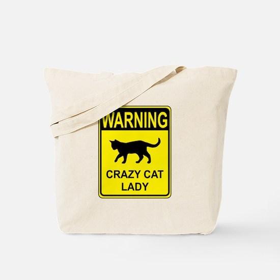 Crazy Cat Tote Bag