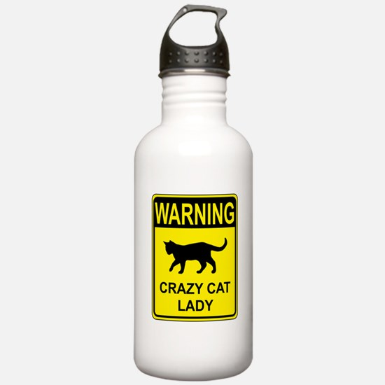 Crazy Cat Water Bottle
