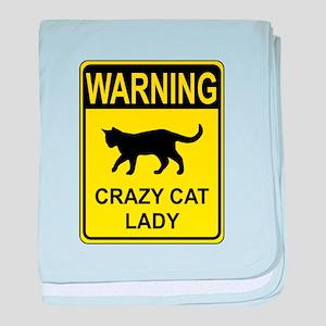 Crazy Cat baby blanket