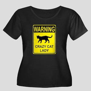 Crazy Cat Plus Size T-Shirt