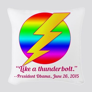 Justice Like a Thunderbolt Woven Throw Pillow