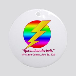 Justice Like a Thunderbolt Round Ornament