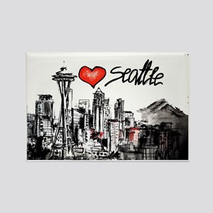 I love Seattle Rectangle Magnet