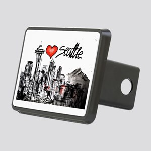 I love Seattle Rectangular Hitch Cover