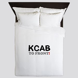 KCAB - BACK TO FRONT Queen Duvet