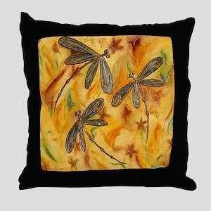 Dragonfly Flit Warm Breeze Throw Pillow