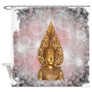 Asian Buddha Shower Curtains