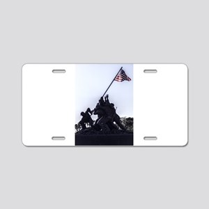 Iwo Jima Memorial Aluminum License Plate