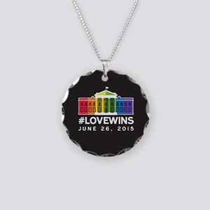#LoveWins Necklace Circle Charm