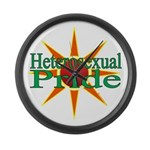 Heterosexual Pride Large Wall Clock