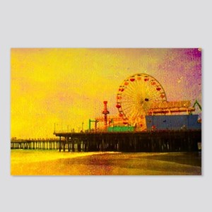 Yellow Santa Monica Pier Postcards (Package of 8)