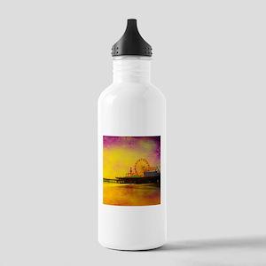 Yellow Santa Monica Pi Stainless Water Bottle 1.0L