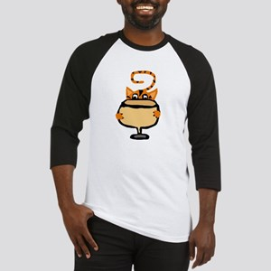 Funny Cat Drinking Wine Baseball Jersey