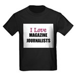 I Love MAGAZINE JOURNALISTS Kids Dark T-Shirt