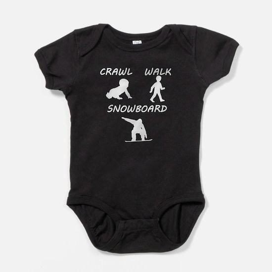Crawl Walk Snowboard Baby Bodysuit