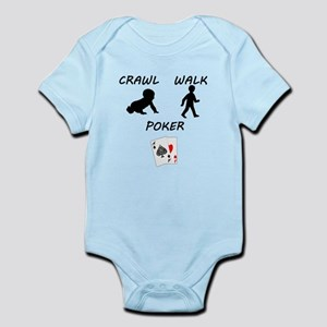 Crawl Walk Poker Body Suit