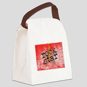 ROCK STAR ROCKING VINTAGE RED Canvas Lunch Bag