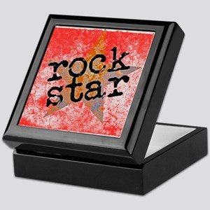 ROCK STAR ROCKING VINTAGE RED Keepsake Box