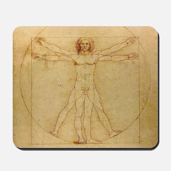 Leonardo Da Vinci Vitruvian Man Mousepad