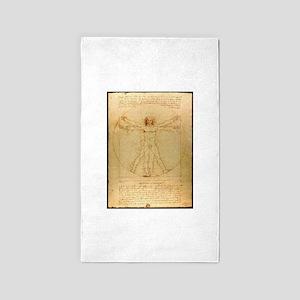 Leonardo Da Vinci Vitruvian Man Area Rug