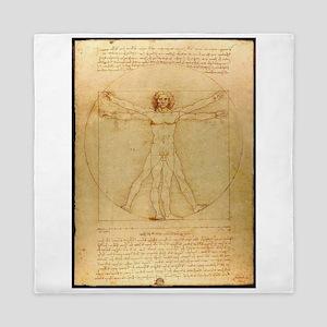 Leonardo Da Vinci Vitruvian Man Queen Duvet