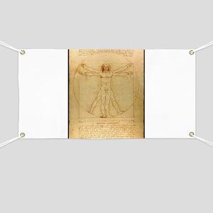 Leonardo Da Vinci Vitruvian Man Banner