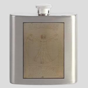 Leonardo Da Vinci Vitruvian Man Flask