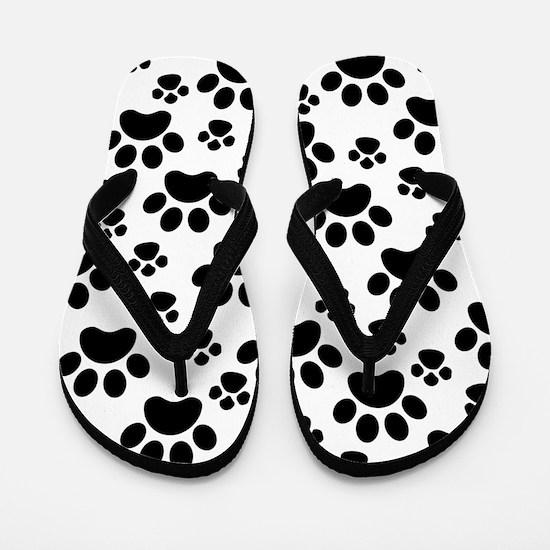 Dog Paws Flip Flops