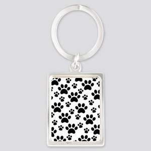 Dog Paws Portrait Keychain