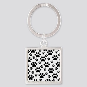Dog Paws Square Keychain