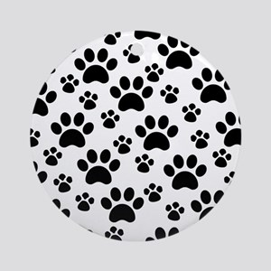 Dog Paws Round Ornament