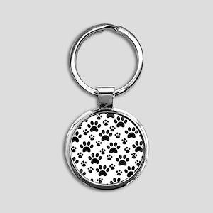 Dog Paws Round Keychain