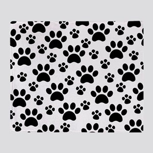 Dog Paws Throw Blanket