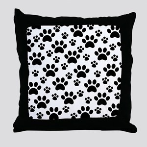 Dog Paws Throw Pillow