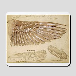 Leonardo Da Vinci Study of wings Mousepad