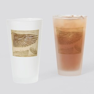 Leonardo Da Vinci Study of wings Drinking Glass