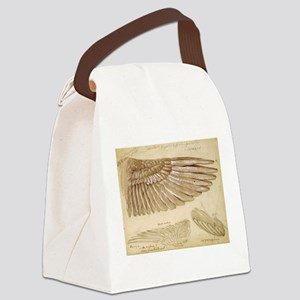 Leonardo Da Vinci Study of wings Canvas Lunch Bag