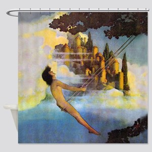 Dinky Bird by Maxfield Parrish Shower Curtain