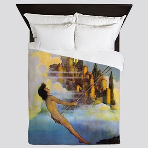 Dinky Bird by Maxfield Parrish Queen Duvet