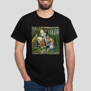 The White Knight and Alice in Wonderl Dark T-Shirt