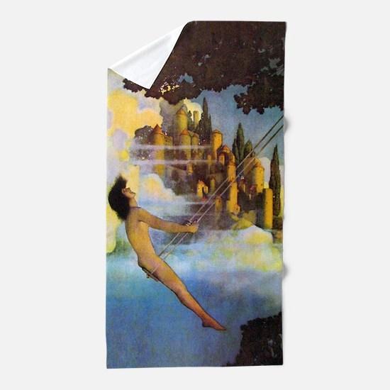 Dinky Bird by Maxfield Parrish Beach Towel