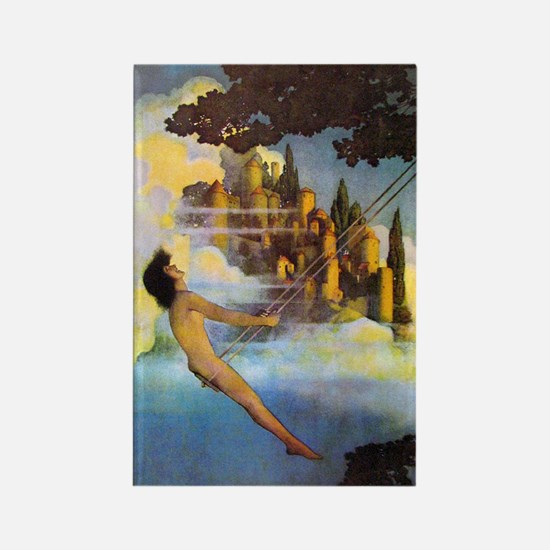 Dinky Bird by Maxfield Parrish Rectangle Magnet