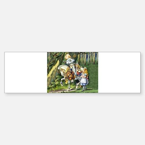 The White Knight and Alice in Won Sticker (Bumper)
