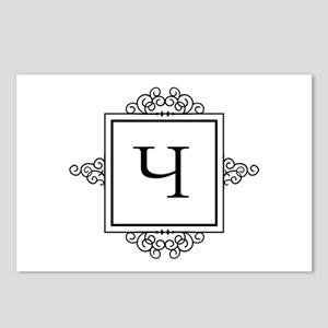 Russian Cheh letter Ch Monogram Postcards (Package