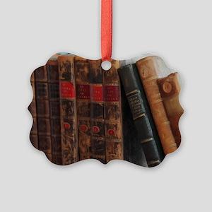 Old Books Picture Ornament