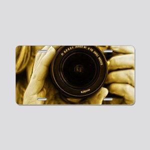 Photographer Aluminum License Plate