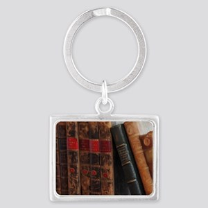 Old Books Landscape Keychain