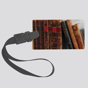 Old Books Large Luggage Tag